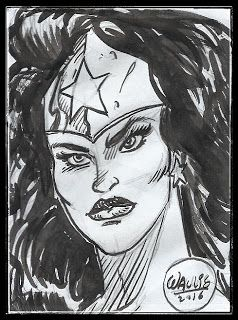 THE ART OF WALLIS : SMALL SKETCHES OF THE WEEK  #wonderwoman #portrait #dccomics #inks #comic #sketch