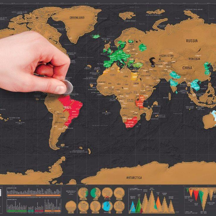1 قطعة ديلوكس خدش خدش خريطة العالم خريطة شخصية سفر صغيرة احباط طبقة الطلاء المشارك 82.5x59.5 سم