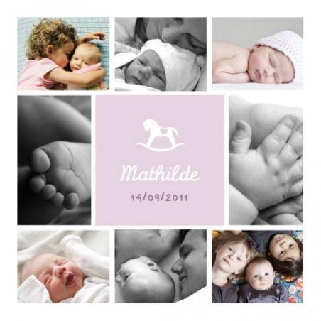 Faire-part naissance (baby announcement) : Petit cheval 9 photos - by Tomoë pour http://www.fairepartnaissance.fr #naissance #fairepart #birth