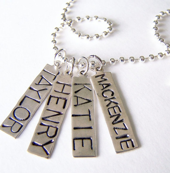 Found the mommy necklace I want...and other charms can be added should our family grow...