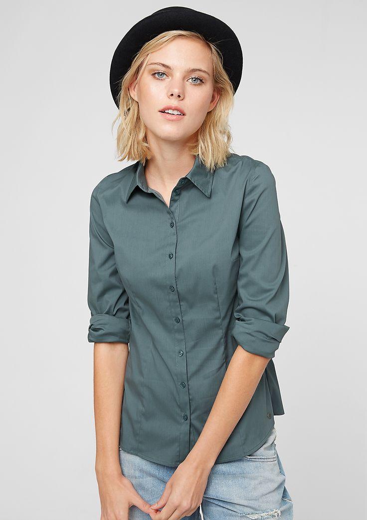 stretch blouse f r damen neu im s oliver online shop button down shirts pinterest blouse. Black Bedroom Furniture Sets. Home Design Ideas