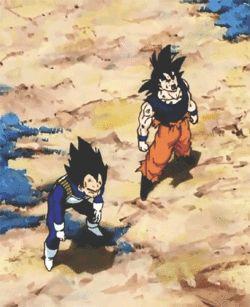 Super duper best friends. #Goku #Vegeta #DBZ
