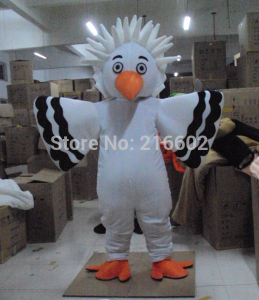 >> Click to Buy << High quality White Big Bird Eagle Mascot Costume Adult Size Fancy Dress Party Outfit Free Shipping #Affiliate