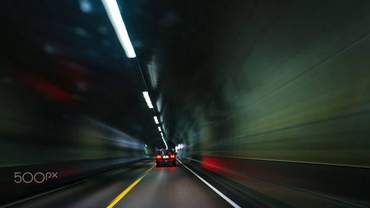 Underground way - Norway. Lofoten Islands, underground road