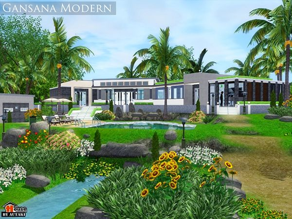 Gansana Modern Compact House By Autaki   Sims 3 Downloads CC Caboodle
