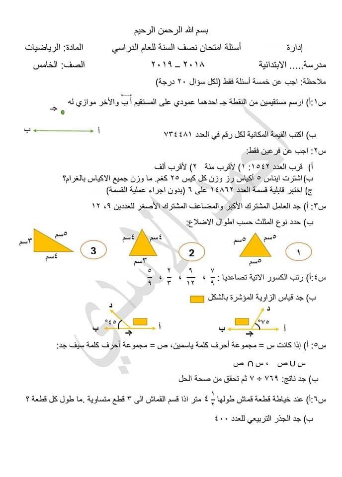 Pin By Dhefaf Alabady On الخامس الابتدائي