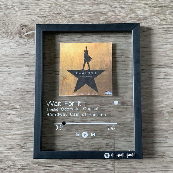 Custom song sign framed 5x7