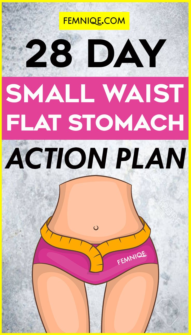 Smaller Waist & Flat Stomach: 28 Day Workout Plan For Results - This plan will help you get a smaller waist and flat stomach as long as you follow the plan and stick to it!