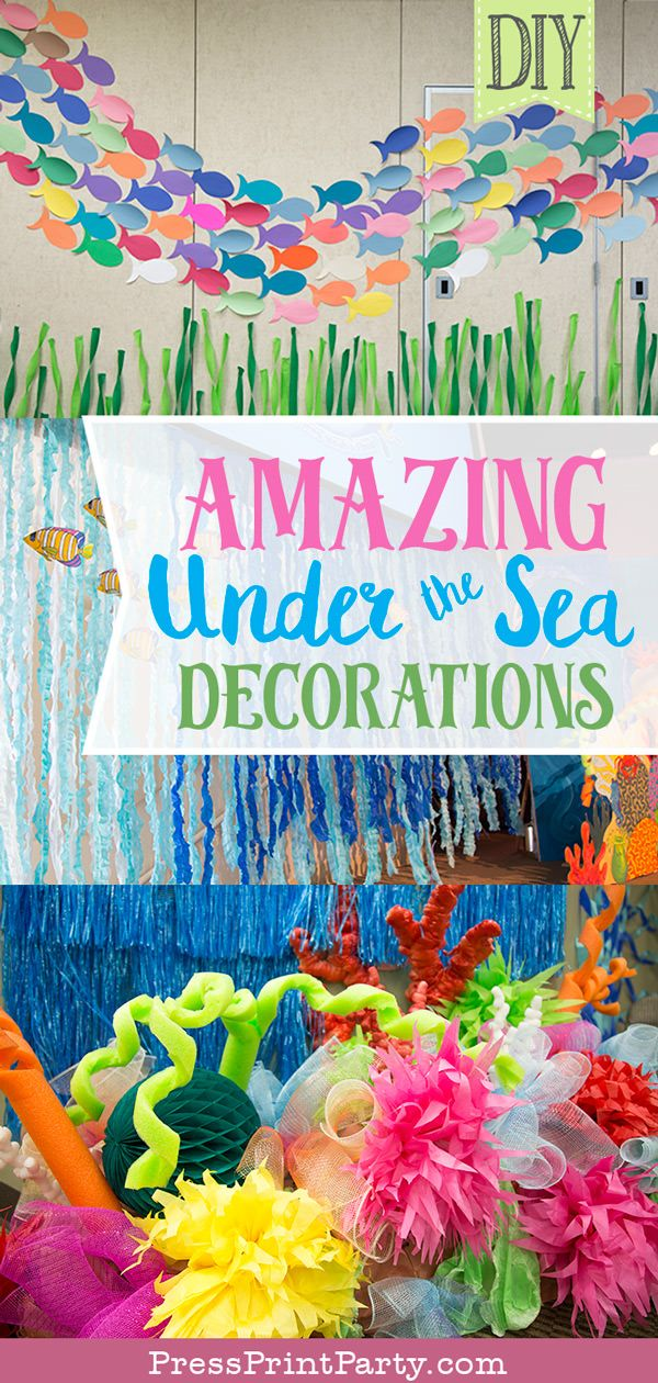 Amazing Under The Sea Decorations Vbs Or Party Press Print
