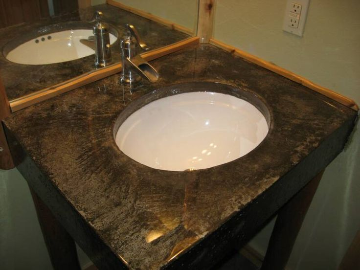 17 best images about counters on pinterest basement wet for Polished concrete kitchen countertops