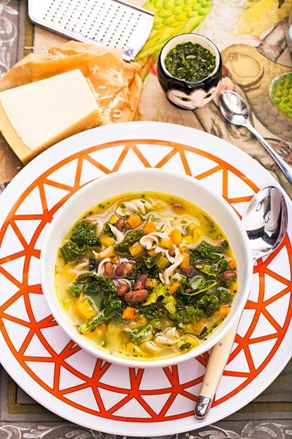 Hemsley & Hemsley: Winter Minestrone soup With Garlic Herb Dressing. Click through for the full recipe