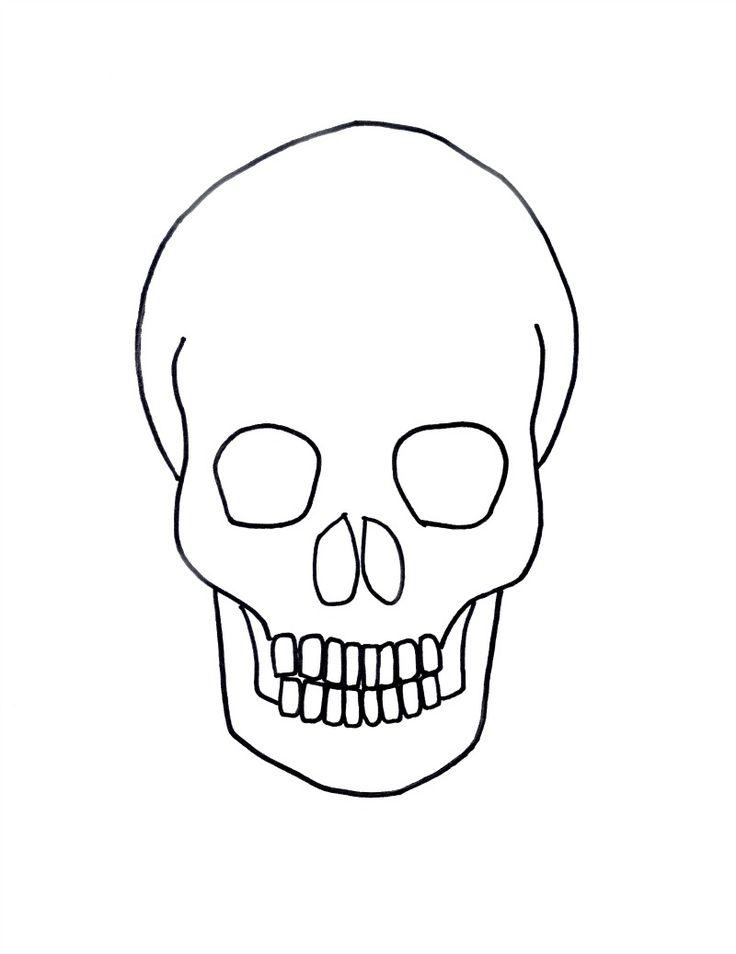 simple skull drawings - 736×954