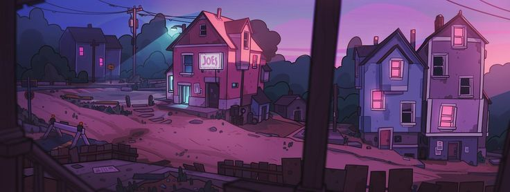 """""""I finished these up and slammed em into my portfolio last minute, oh my gosh. Small scenes in a small town."""""""