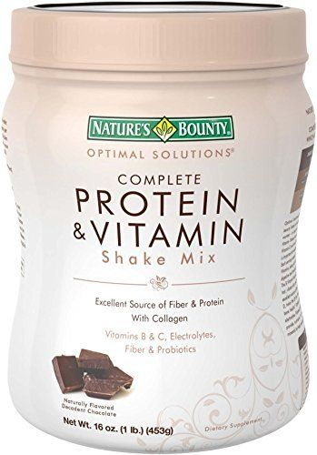 Nature's Bounty Protein Shake Mix, Decadent Chocolate, 16 Ounce