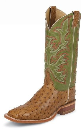 Justin Boots #8574 ANTIQUE SADDLE VINTAGE FULL QUILL OST
