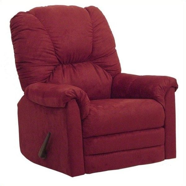 Catnapper Winner Oversized Rocker Recliner Chair ($417) ❤ liked on Polyvore featuring home, furniture, chairs, red, cushioned rocking chair, oversized rocking chair, heavy duty rocking chair, padded rocking chair and red rocking chair