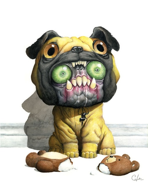 I knew pugs were just monsters in disguise!