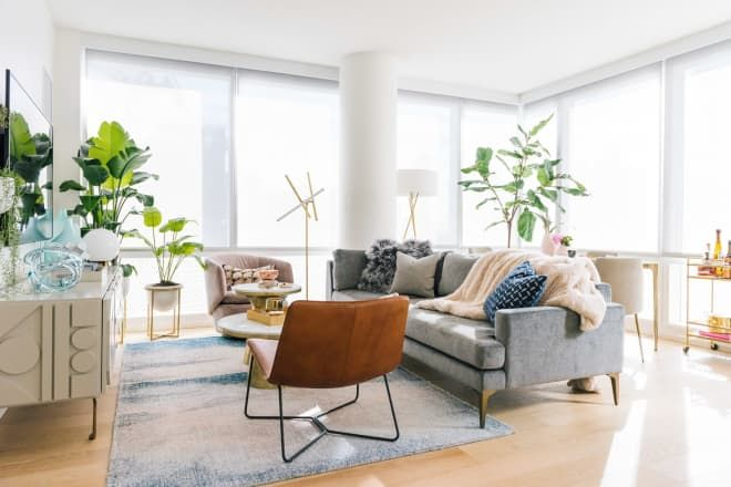 These Zoom Backgrounds From West Elm Will Make Your Coworkers Think You Redecorated West Elm Living Room Living Room Setup Living Room Cozy living room zoom background