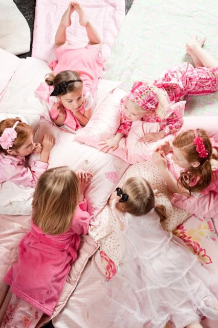 Pajama Glam Party: At our Pajama Glam Party we served breakfast for dinner & let the girls get dressed up to sing & dance the night away.