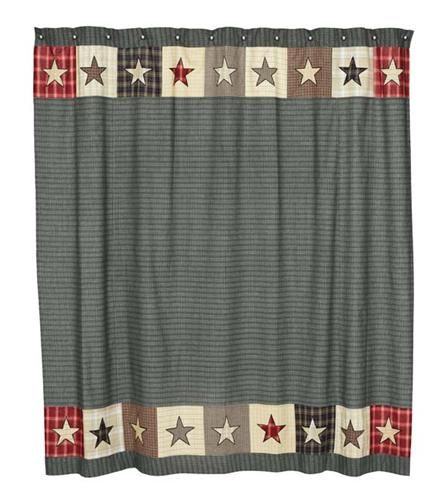America-Shower Curtain, Americana Shower curtain, Primitive Bath Curtain, Country Shower Curtain, Bath Curtains