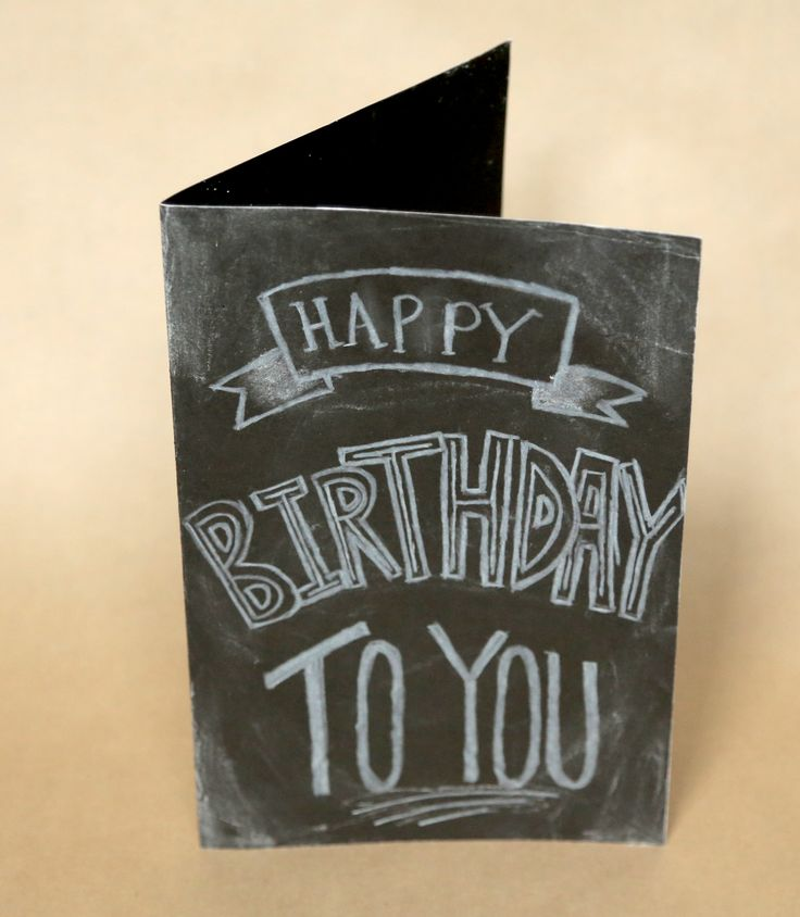 DIY chalkboard inspired happy birthday card. Check out the video tutorial by TheSorryGirls!