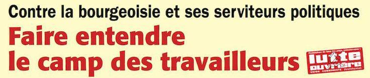 Meeting Lutte Ouvrière à Paris : faire entendre le camp des travailleurs. Vendredi 7 mars à 20h30 avec Nathalie ARTHAUD, Jean-Pierre MERCIER et les têtes de liste LUTTE OUVRIÈRE aux élections municipales de la région parisienne. Théâtre de la Mutualité,24 rue Saint-Victor – Paris 5e – Métro : Maubert-Mutualité.