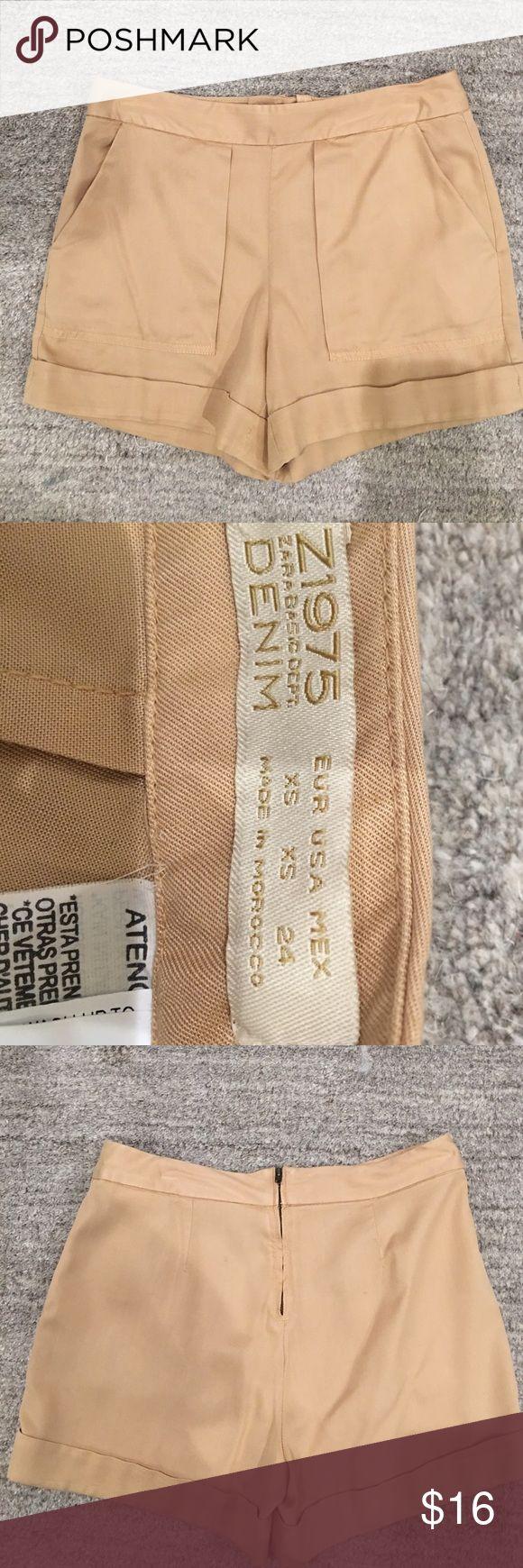 NWOT Zara Shorts NWOT 100% lyocell safari style shorts. Zip up back. Great basic. Never worn. Brand new. Zara Shorts