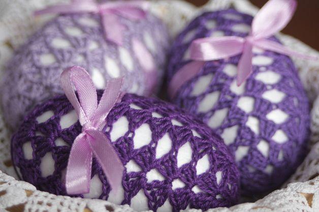 violet Easter eggs - pysanka Visit my Dawanda shop http://pl.dawanda.com/shop/DecorAnna