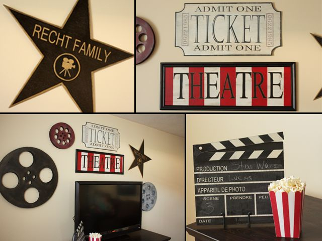 Red Hen Home: Movie Signs, Cute For Family Room