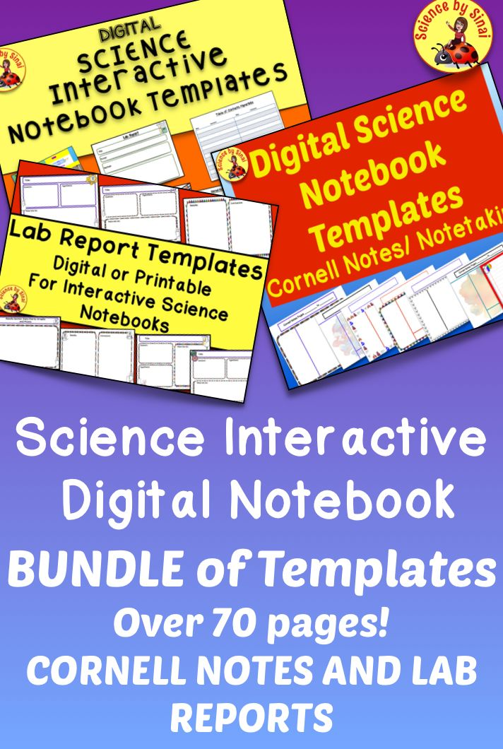 Science Interactive Digital Notebook Bundle Of Templates Over 70 Pages Middle School Science Resources Interactive Science Notebook Middle School Science