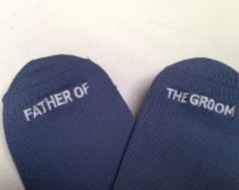 Check out Father of the Groom Socks Best Wedding Gift, Mens Wedding Socks Gifte, Groom Wedding Attire Accessory on groomsocks