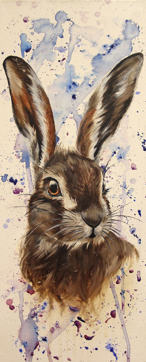 rabbit watercolor painting