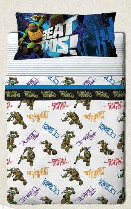 Juego de cama de las Tortugas Ninja!