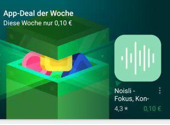 Google Play Store: Noisli ist App-Deal der Woche https://www.discountfan.de/artikel/tablets_und_handys/google-play-store-noisli-ist-app-deal-der-woche.php Die App Noisli ist diese Woche als App-Deal im Google Play Store für zehn Cent im Angebot. Sie soll beim fokussierten Arbeiten helfen. Google Play: Noisli ist App-Deal der Woche (Bild: play.google.com) Die App Noislispielt Umgebungsgeräusche ab, die laut Entwicklerdie Konzentration... #App, #AppRabatt, #App