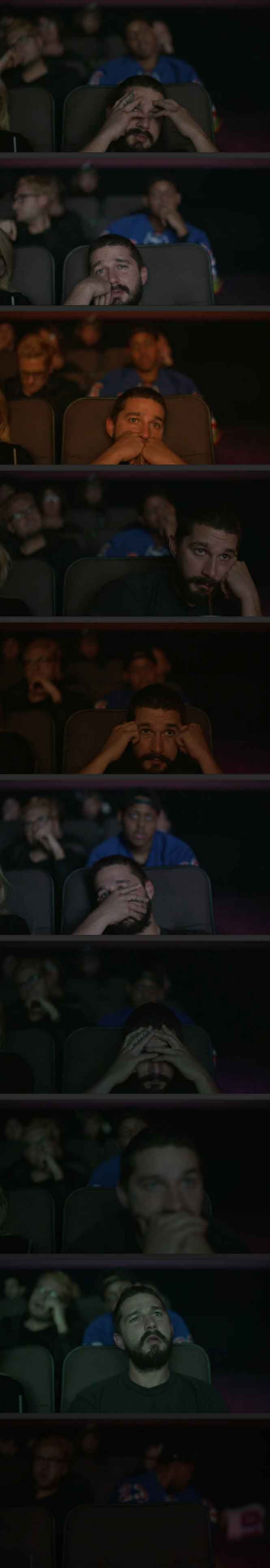 Shia LaBeouf's reaction to watching Transformers: Dark of The Moon