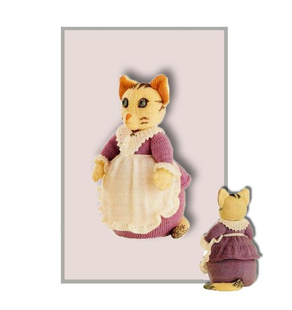 Mrs Tabitha Twitchit by Alan Dart for Beatrix Potter Knitting pattern at ETSY and https://www.yarnpassion.com/product/brambly-hedge-primrose/