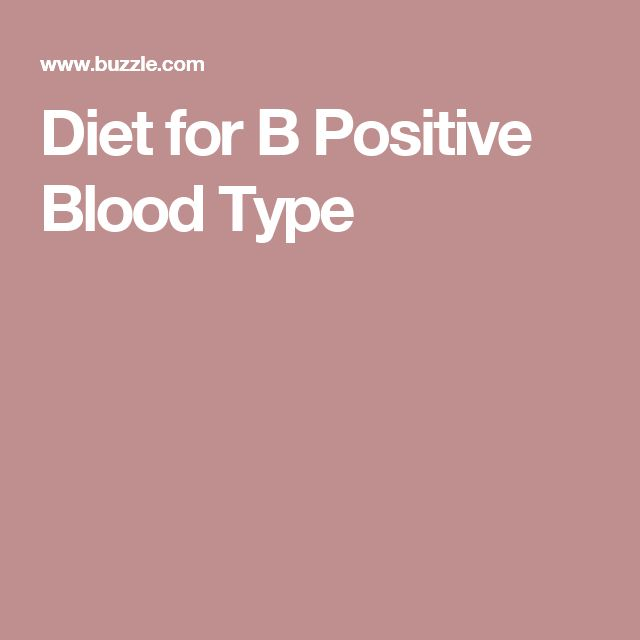 Diet for B Positive Blood Type