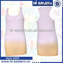 2015 Custom new fashion pink yellow colors dip dyeing extended women tank top Best Seller follow this link http://shopingayo.space
