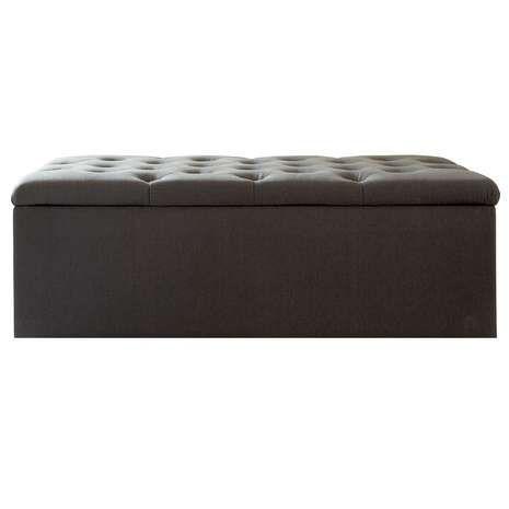 Antoinette Charcoal Large Bed Ottoman | Dunelm