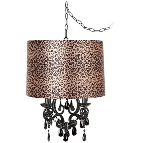 16 best lamps images on pinterest chandelier chandelier lighting black glass designer leopard shade plug in chandelier 93729 u0965 y0621 aloadofball Images