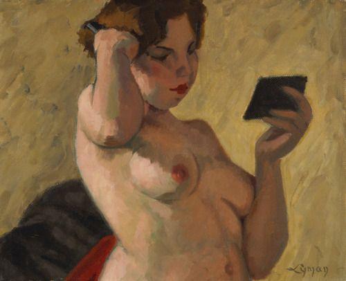 "John Lyman ""Young Woman Combing her Hair"""
