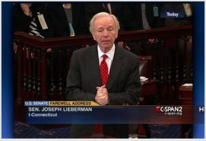 Joe Lieberman's Farewell Speech, Will He Be Missed? (VIDEO) | TheSleuthJournal