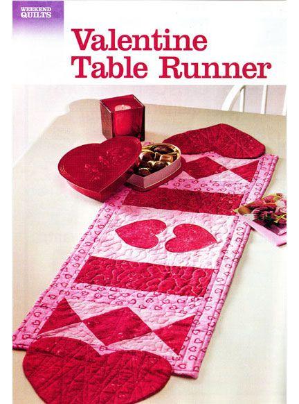 Free valentine table runner pattern google search for Diy valentine table runner