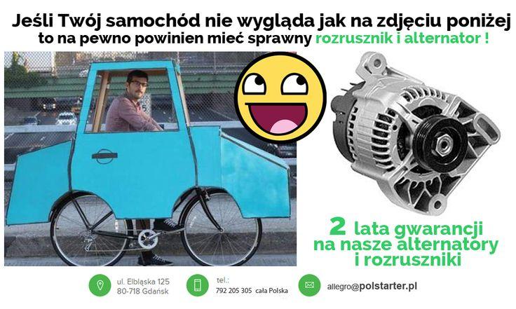 ⚫Jeśli posiadasz samochód nie wyglądający jak ten na naszym obrazku to jesteśmy w 100% przekonani, że powinien on mieć sprawny #Rozrusznik i #Alternator!  ⚫Sprawne i dobre części ! Zapewnia je firma #PolStarter dając na nie 2 letnią #GWARANCJĘ! 💪😁  ✔ Odwiedź także naszą stronę internetową i sklep internetowy: ➜ www.polstarter.pl ➜ www.sklep.polstarter.pl  ⚫ KONTAKT: 📲 792 205 305 ✉ allegro@polstarter.pl  #samochód #samochody #częścisamochodowe #auto #mechanik #serwisamochodowy…