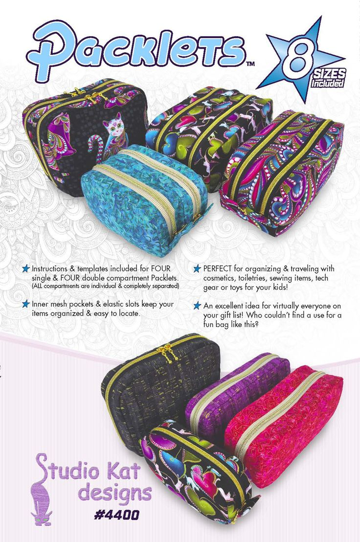 The Packlets Pattern Sewing, Sewing items, Sewing