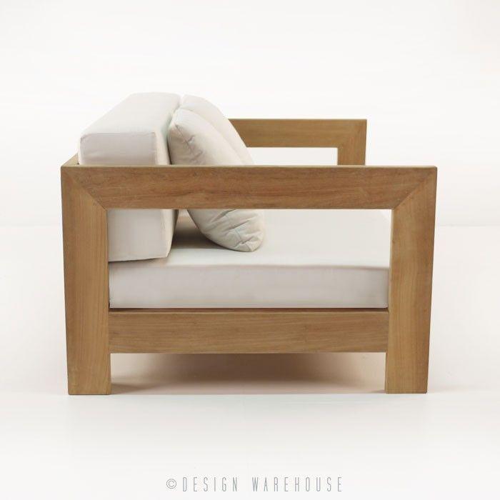 Amalfi Collection Teak Club Chair | Design Warehouse