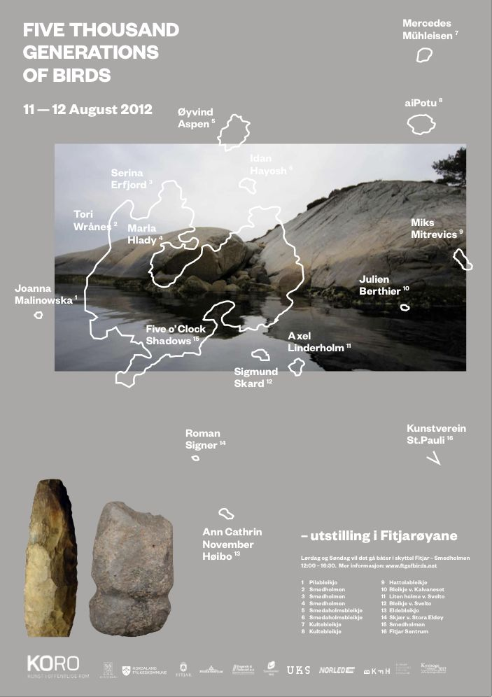 poster design for Five Thousand Generations of Birds art residency and exhibition with Anna Mikkola (FI)