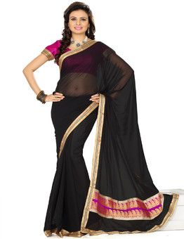 sexy black saree on sale - what are you waiting for . Avail huge discounts online