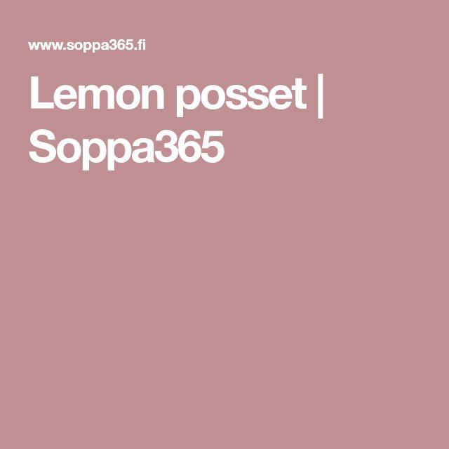 Lemon posset   Soppa365