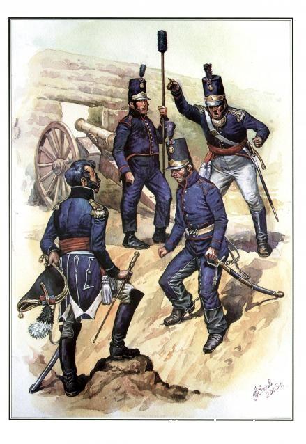 Portugese Artillery Наполеоновские войны - Планшеты
